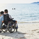boy in a wheelchair on </div><div class=