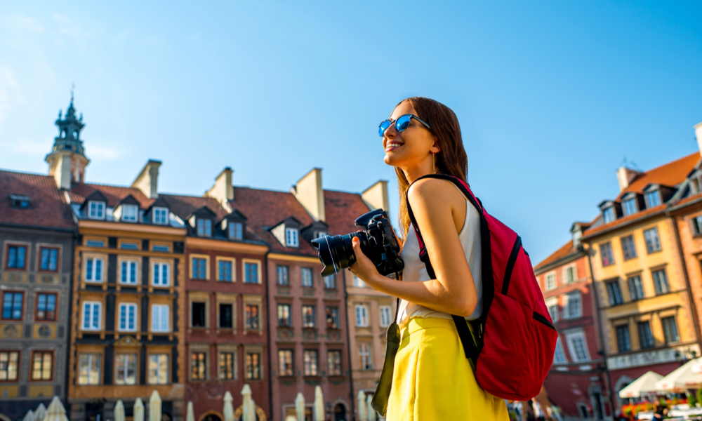 woman tourist in Poland