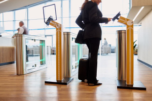 Contactless check-in at the airport