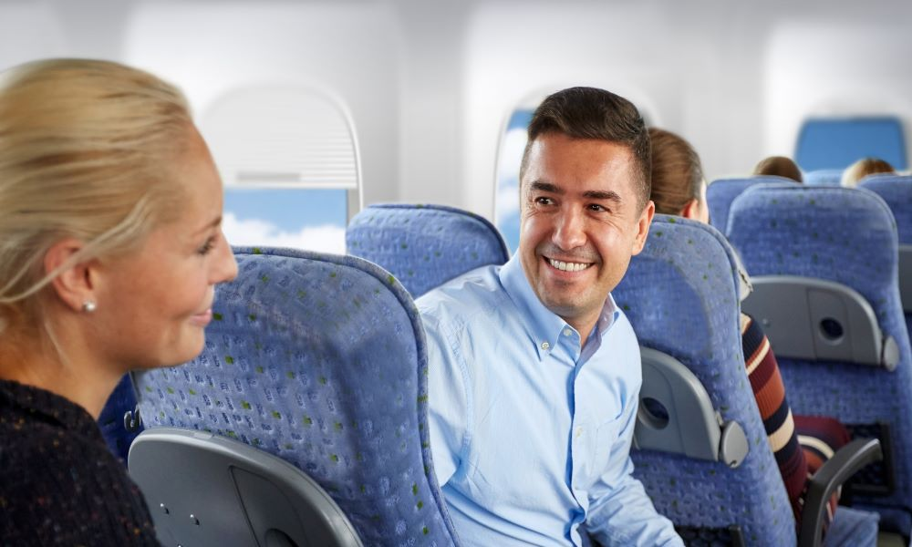long flight mistakes like talking to your seat neighbor