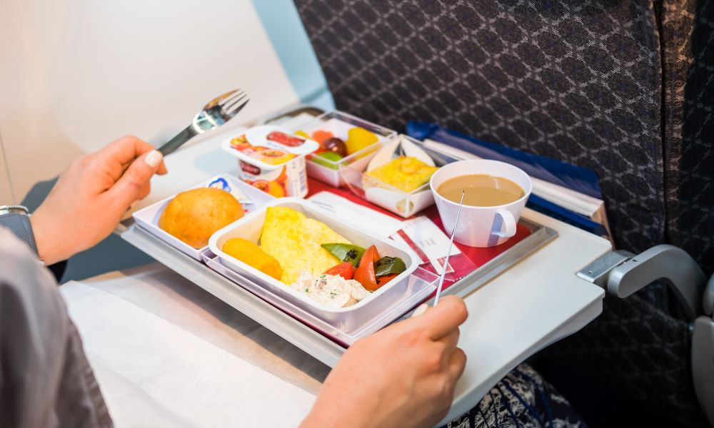 long flight mistakes - missing meals
