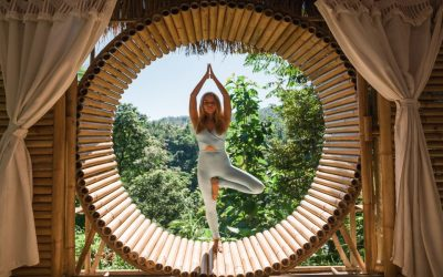 Woman Doing Yoga Knows How to Travel Sustainably