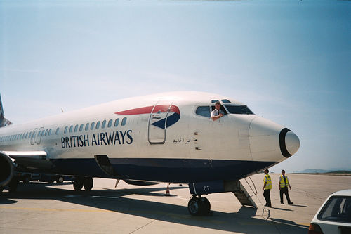 British Airways crew in happier times.