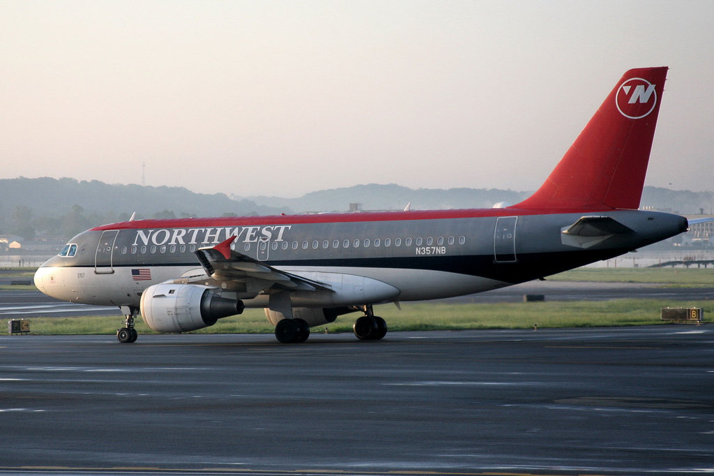Northwest Airlines flight ready for take off