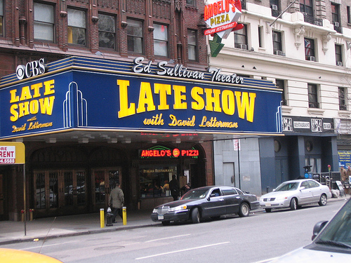 Catch a live taping of the Late Show with David Letterman at the Ed Sullivan Theater (Flickr: Solo, with others)