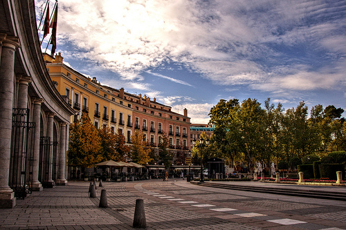 Plaza de Oriente in Madrid, Spain