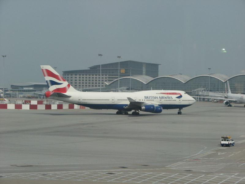 British Airways plane set for take off