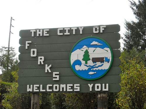 Forks, Washington was the settinf of the Twilight films
