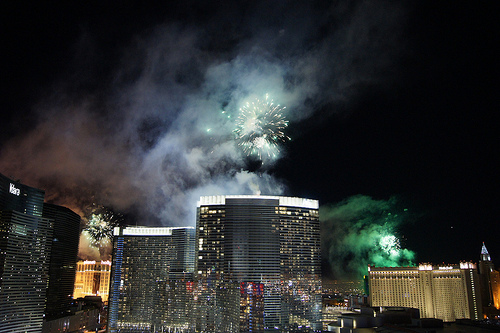 Las Vegas fireworks on New Year's Eve (CC Flickr photo credit: Michael Asuncion)