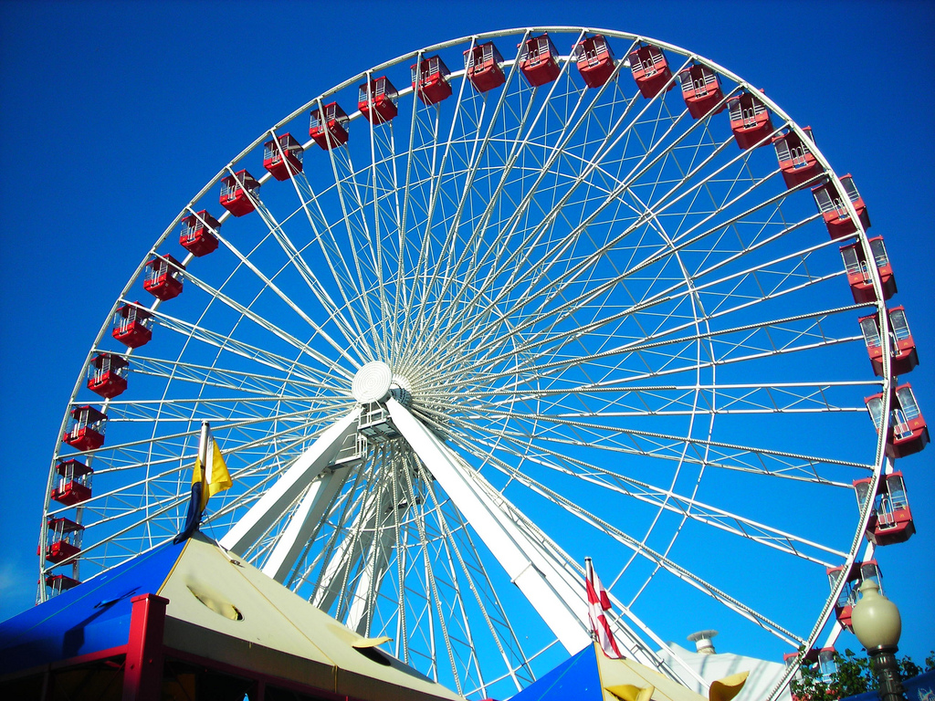 The enormous Ferris Wheel on Navy Pier (flickr: amber.kennedy)