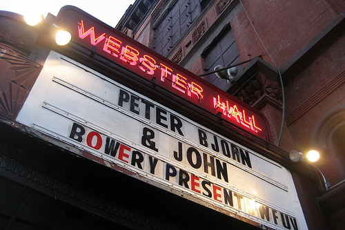A Few of New York City's Popular Concert Venues. Photo credit: wallyg
