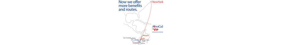 Aerogal Route Map