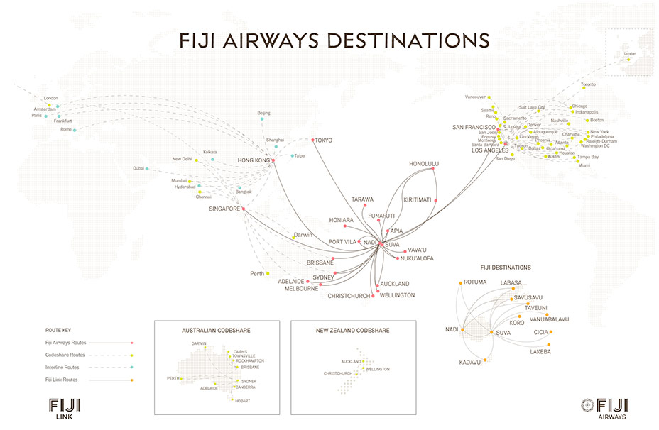 Fiji Airways Route