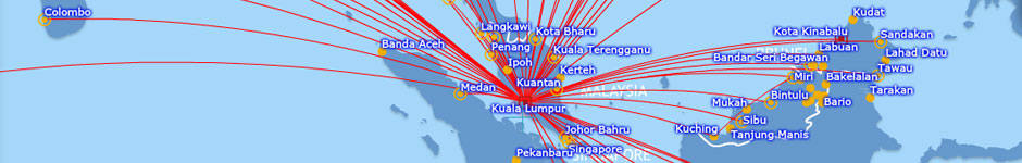 Malaysia Airlines Route Map