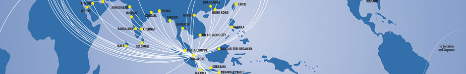 Singapore Airlines Route Map