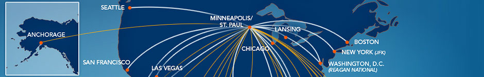 Sun Country Airlines Route Map