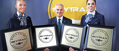 Turkish Airlines Grabs 4 Awards in 2014