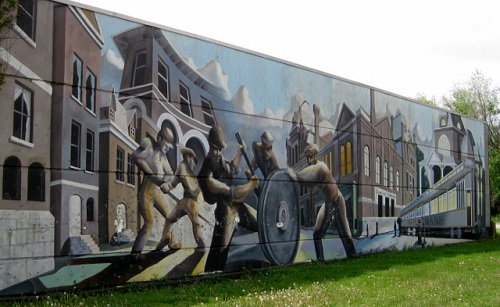 Mural in the Pullman Historic District