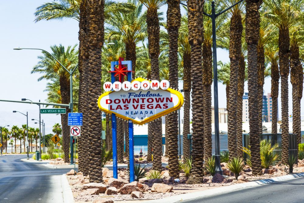 Downtown Las Vegas welcome sign at the strip
