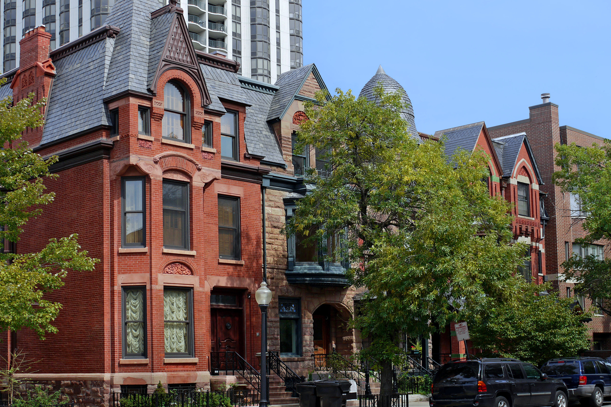 well preserved houses, Old Town Chicago