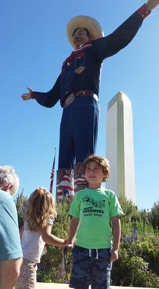 My son Liam at the State Fair of Texas. And yes, that guy behind him is Big Tex