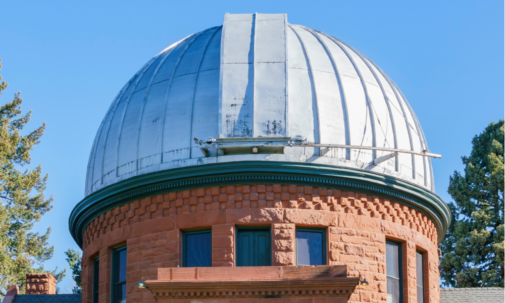A Guide to the Romantic Side of Denver:Exterior view of the Chamberlin Observatory at Denver, Colorado.