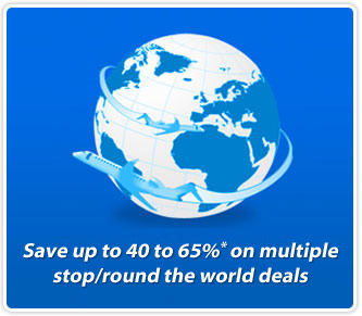 Save BIG on Airfares Round the World