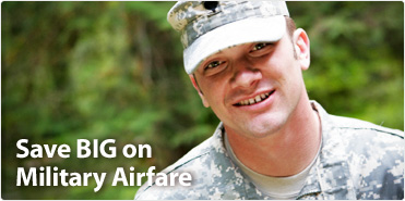 discount on airline tickets for military